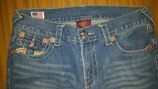 True Religion jeans Billy Super T. Size 34. Shows signs of wear. Missing button