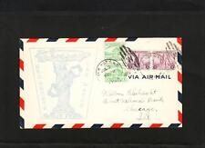 Airship Zeppelin USS Macon New York Greets Sta W Ellipse 1933 Cover z80