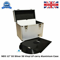"1 X NEO Aluminium Silver DJ Flight Case to Store 50 Vinyl LP 12"" Records STRONG"