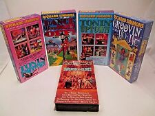 Richard Simmons Exercise Tapes Lot of 5 VHS Sweatin To The Oldies Tonin Uptown