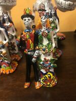 Day of The Dead Catrina Candy Sugar Married Couple Mexican Talavera Ceramic NEW