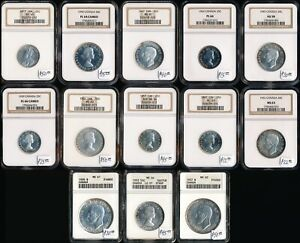 13 CANADA SILVER 25/50¢ & $1 (NGC & ANACS CERTIFIED) CV $429 US > NO RESERVE