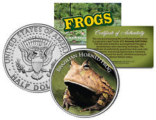 Brazilian Horned Frog *Collectible Frogs* Jfk Half Dollar Us Colorized Coin Coa