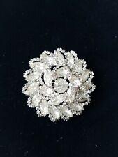 Weiss - Vintage Chrystal Rhinestone Pin/ Brooch, Signed Weiss