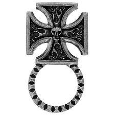 Biker Flammen Skull Totenkopf Iron Cross Pin Halter Anstecker Brillenhalter NEU