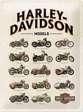 Harley Davidson Classic Motorcycle Motorbike Range Large 3D Metal Embossed Sign