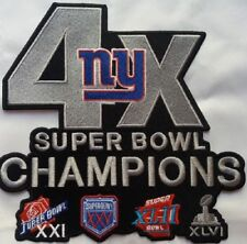 NEW YORK GIANTS PATCH XLARGE JACKET STYLE 4X SUPER BOWL CHAMP NFL SUPERBOWL 52 ?