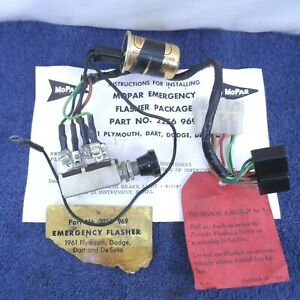 Emergency Flasher Package 1961 Dodge DeSoto Plymouth Switch Wiring Harness Mopar