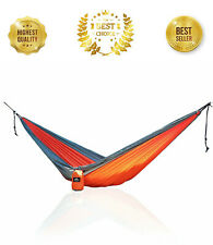 Single Person Compact Nylon Camping Hammock Strong Portable Outdoors New