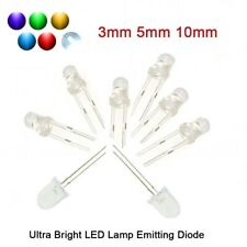 3/5/10mm Ultra Bright LED Red/Blue/Green/White/Yellow/Purple Lamp Emitting Diode
