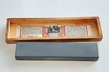 Vintage Rare Escher & co. Natural Water Hone in Original Natural Wood Box