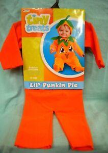 Halloween  Lil Punkin Pie TODDLER Costume SZ 12 - 18 mth CHILD New PUMPKIN