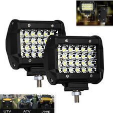 2x Quad Row Flood Lights Off-road SUV Spot Fog Driving Lamp For Toyota Dodge Ram