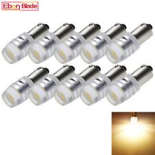 100Pcs Warm White 6V AC T11 T4W H6W BA9S COB Chips Motor Car LED Light Bulbs