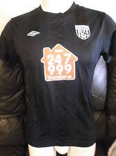 West Bromwich Albion FC Nero AWAY 2010/11 shirt. Taglia 14 Donna.