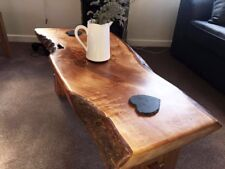Chunky Rustic Solid Oak Coffee Table 1000mm x 400mm Various Sizes Available