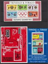 Trinidad & Tobago 9 Souvenir Sheets Unmounted Mint