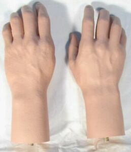 Pair Male Hands Life Size Lifelike Fleshtone Brand NEW Mannequin Manikin Dummy