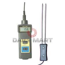 Mc 7821 Grain Moisture And Temperature Meter Tester Damp Wheat Corn New