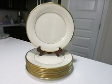 LENOX ETERNAL GOLD LOT OF 9 DINNER PLATES