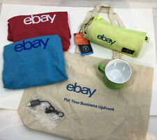 Lot NEW eBay Swag Merch Official Logo XL T-Shirts Mug Tote Micro USB Pencil Case
