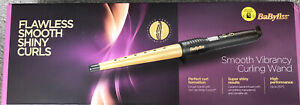 Babyliss 2285DU Smooth Vibrancy Hair Curling Wand 5 Settings Gold  - New