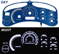 Escalade Style Blue Face White Glow Gauge For 99-02 Gmc Sierra Truck / Yukon