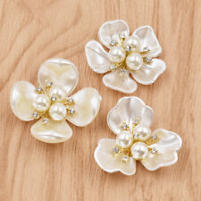 2pcs Flowers Patches Rhinestone Beaded Floral Applique for Clothing Shoes Decor