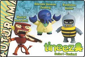 "Futurama Tineez 3"" Set - Zoidberg, Robot Devil, Bender Series 1.2 - New Box Set"