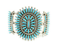 Fernando Othole-Zuni Needlepoint Ring Size 4 1//2