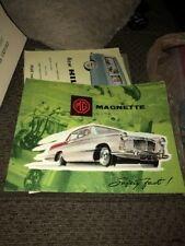 Vintage Orig. Sales Brochure MG Magnette Mark III