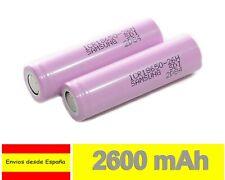 PILA RECARGABLE Samsung 18650 26j 2600mAh Li-ion Litio Batería SIN Prot PP18