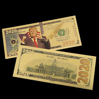 Trump 24K Gold Plated Dollars Antique Plated Commemorative Realistic Banknote UN