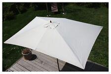 Parasol en bois, parasol de jardin Florida, parasol de marché, 2x3m ~ crème
