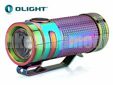 OLIGHT S-Mini Ti Cree XM-L2 EDC Neutral NW LED Titanium Flashlight Rainbow PVD