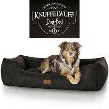 Knuffelwuff bedrucktes Hundebett Liam M-XXXL Schwarz