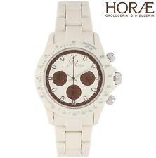 Orologio uomo TOY WATCH collezione VELVETY VVC03IV Bianco marrone Cronografo