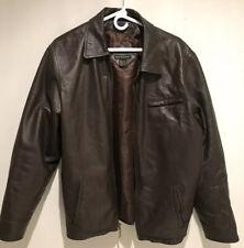 Massini Brown Leather Jacket Men's Medium YKK Ripper, Pockets M Classic
