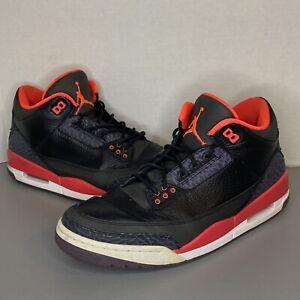 """Nike Air Jordan 3 Retro """"Crimson"""" Men's 12 (136064-005)"""