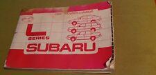 Subaru L Series  Manual 1986