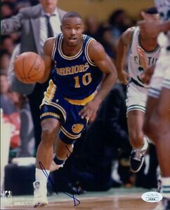 Tim Hardaway Golden State Warriors Signed 8x10 Glossy Photo JSA Authenticated