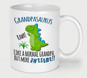 Fathers Day Grandpasaurus Mug Grandpa Dinosaur Cup Birthday Christmas Funny Dino