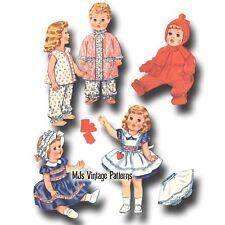 "Vtg Baby Doll Dress Pattern ~ 11"" 12"" Tiny Tears, Betsy Wetsy, Dy Dee"