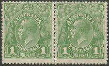 KGV - Sml Multi Wmk Perf.13½ x 12½: 1d Green (Die 2) horizontal pair, (2) MUH.
