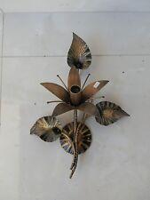 Applique da parete IN FERRO BATTUTO a giglio foglie