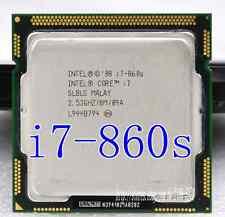 CPU de cuatro núcleos Intel Core i7 i7-860S 2.53GHZ/8MB LGA1156 slblg CPU