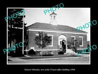 OLD LARGE HISTORIC PHOTO OF GENEVA NEBRASKA, US POST OFFICE BUILDING c1940