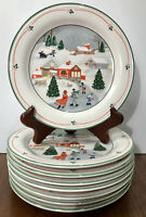 "Sango Silent Night Salad Plate(s) 7 1/2"" Set of 8 Joan Luntz EUC"