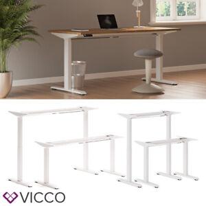 Schreibtisch Gestell elektrisch höhenverstellbar ausziehbar ergonomisch Vicco