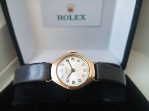 BEAUTIFUL LADIES 1970 SOLID 9K GOLD ROLEX TUDOR WATCH, ROLEX CROWN AND BUCKLE
